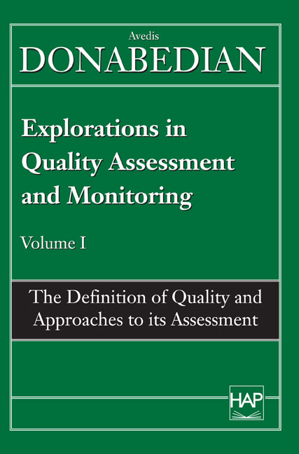 Photo of Explorations in Quality Assessment and Monitoring: The Definition of Quality and Approaches to Its Assessment